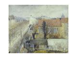 La maison de refuge du Bon Pasteur; vue de la place Denfert-Rochereau Giclee Print by Edouard Zawiski