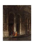 Venise, sortie du palais des Doges sous le Pont des Soupirs Giclee Print by Felix Ziem