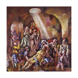 La Résurrection de Lazare Wydruk giclee autor Charles-Georges Dufresne