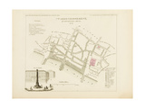 Plan de Paris par arrondissements en 1834 : VII ème arrondissement Quartier des Arcis Giclee Print by Aristide-Michel Perrot