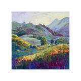 Jeweled Hills Giclee Print by Erin Hanson