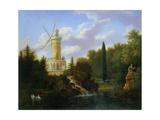 Le moulin de la Folie Beaujon, 1827 Giclee Print by Antoine Guyot
