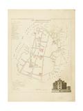 Plan de Paris par arrondissements en 1834 : XIIème arrondissement Quartier de l'Observatoire Giclee Print by Aristide-Michel Perrot