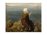 La fileuse, baie de Douarnenez Giclee Print by Jules Breton