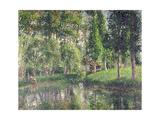 Le lavoir de Bazincourt Giclee Print by Camille Pissarro