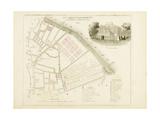 Plan de Paris par arrondissements en 1834 : XIIème arrondissement Quartier du Jardin du roi Giclee Print by Aristide-Michel Perrot