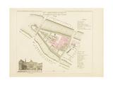 Plan de Paris.arrondissements en 1834: XIème arrondissement Quartier du Palais de justice Giclee Print by Aristide-Michel Perrot