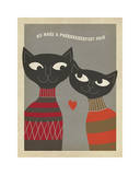 Cats Purrfect Pair Giclee Print by  Anderson Design Group