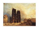 Le parvis de Notre-Dame, vers 1835 Giclee Print by Domenico Ferri