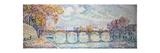 Le pont des Arts Gicléetryck av Paul Signac