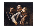 Trio d'amateurs Giclee Print by Honoré Daumier