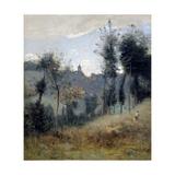Canteleu près de Rouen Giclee Print by Jean-Baptiste-Camille Corot