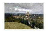 Vue générale de la ville de Saint-Lô Giclee Print by Jean-Baptiste-Camille Corot