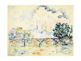 La Cité: le Pont des Arts Giclee Print by Paul Signac
