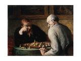 Joueurs d'échecs Giclee Print by Honoré Daumier