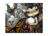 Owlyn in the Nest Fotoprint van Jasmine Becket-Griffith