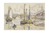Le port de Bordeaux Gicléetryck av Paul Signac