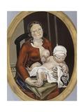 Maternité (Ovale II), la mère et l'enfant Gicléetryck av Maria Blanchard