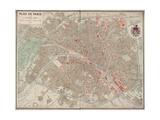 Plan de Paris vers 1883 Giclee Print by Victor-Adolphe Malte-Brun