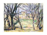 Arbres et maisons Giclee Print by Paul Cézanne