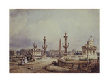 La Place de la Concorde entre 1836 et 1838 Giclee Print by William Wyld