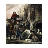 Notre-Dame de Paris - Soldats et prisonnières Giclee Print by Louis Boulanger