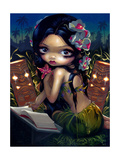 Amara and the Book Photographic Print by Jasmine Becket-Griffith