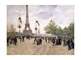 Entrée de l'Exposition Universelle de 1889 Giclee Print by Jean Béraud