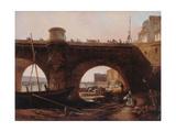 Le Pont Neuf, vu de la berge de la rive droite, vers 1830 Giclee Print