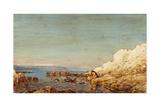 Le rocher d'Antibes: le Croûton Giclee Print by Félix Ziem