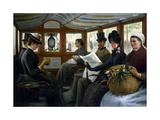 Dans l'omnibus Giclee Print by Maurice Delondre