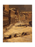 Venise sous la neige Giclee Print by Giuseppe Borsato