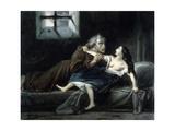 Notre-Dame de Paris - Frollo et Esmeralda Giclee Print by Louis Boulanger