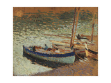 Barques au port (dos du tableau bouquet de bleuets) Giclee Print by Henri Martin