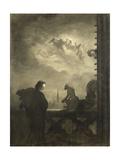 La vision du poète, Notre-Dame de Paris Giclee Print by Georges Pilotell