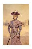 Une élégante, place de la Concorde, vers 1894 Giclee Print by Louise Abbema