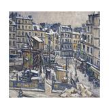Travaux du métropolitain à l'angle de la rue du Faubourg Saint-Antoine et de la rue de Reuilly Giclee Print by Germain David-nillet