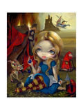 Alice and the Bosch Monsters Lámina fotográfica por Jasmine Becket-Griffith