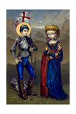 Saint George and Princess Sabra Photographic Print by Jasmine Becket-Griffith