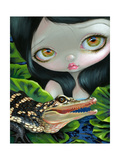 Mermaid with a Baby Alligator Photographic Print by Jasmine Becket-Griffith
