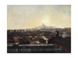 Les Voies de la gare du Nord, les toits de l'hôpital Lariboisière et la colline de Montmartre Giclee Print by Louis-robert Carrier-belleuse