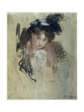 Jeune femme au chapeau Giclee Print by Jacques-emile Blanche