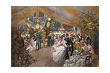 Un bal à bord Giclee Print by C. Detti
