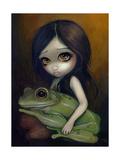 Little Frog Girl Fotografisk tryk af Jasmine Becket-Griffith