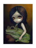 Little Frog Girl Print by Jasmine Becket-Griffith