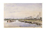 Bords de rivière Giclee Print by Johan Barthold Jongkind