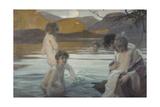 Premier bain Giclee Print by Paul Chabas