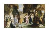 La danse des muses Giclee Print by Louis Boulanger