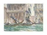 Vue de Venise (sur le canal), vers 1906 Giclee Print by John Singer Sargent