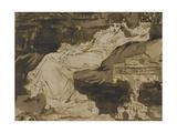 Portrait de Sarah Bernhardt, étude préparatoire Giclee Print by Georges Clairin